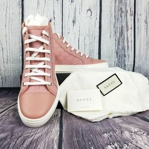 Gucci Shoes - Gucci High Top Canvas Sneakers